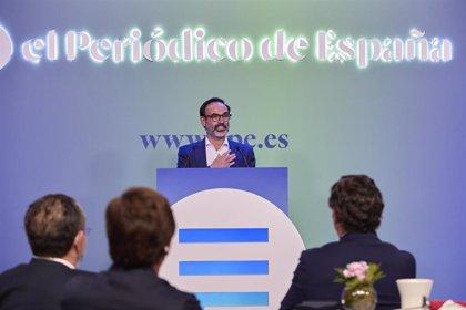 Fernando Garea presentando El Periódico de España - EP